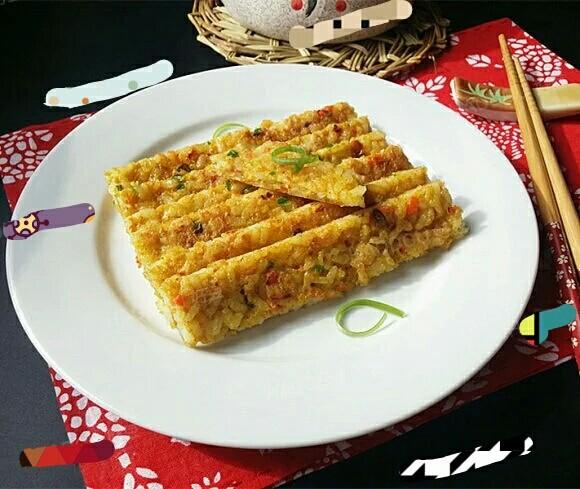 白胡椒鸡蛋米饭饼