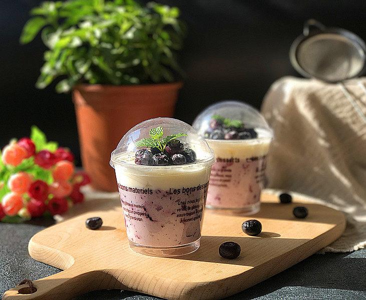 #百变水果# 蓝莓果酱奶油杯