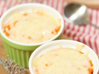 18m+芝士焗红薯(宝宝辅食),好看、好吃,超简单的自制甜品,红薯泥的超高级吃法哈哈,试试吧~