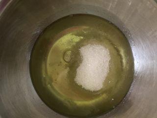 超软绵舒芙蕾松饼——日式松饼,蛋白倒入所有砂糖,准备打发