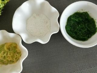 黑芝麻油菜细面米糊,准备就绪,菜泥,面条,米粉
