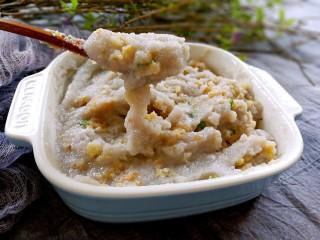 蒸藕粉~莲藕这样吃很妙,吃的时候用勺子搅拌均匀,味道很赞哦😊