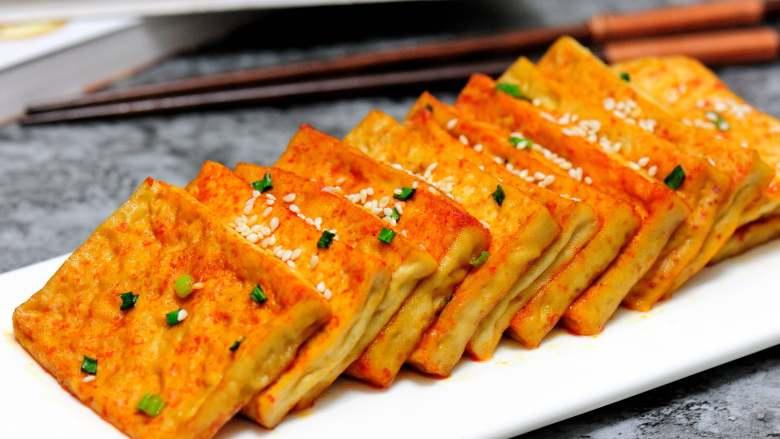 新奥尔良烤豆腐,不止鸡翅和汉堡能这么做,豆腐的创意新吃法