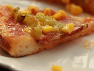 萨拉米培根玉米披萨,成品