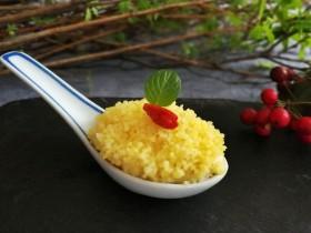小米的另类吃法~小米豆腐虾仁丸