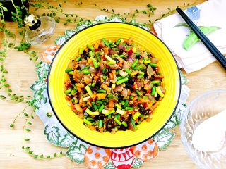 家常美味➕粒粒香蒜苔炒肉末,成品