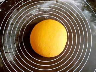 做饼+南瓜饼,揉成粘稠度适中的面团。