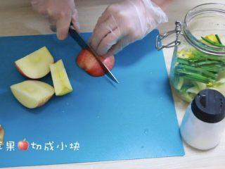 快手版泡菜,苹果切成小块🍎
