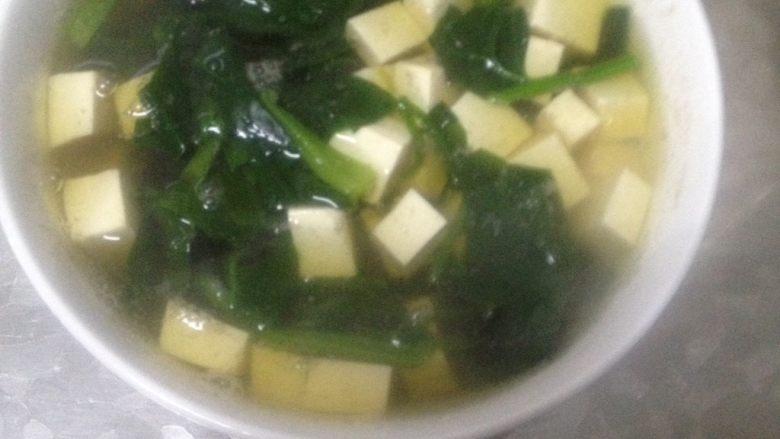 豆腐菠菜汤