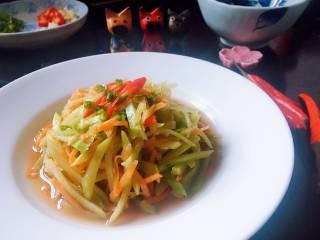 炝拌莴笋胡萝卜丝