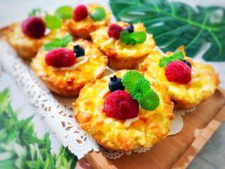 创意料理の马苏里拉奶酪芝士馒丁水果挞,又漂亮又好吃,赞赞赞👍🏻