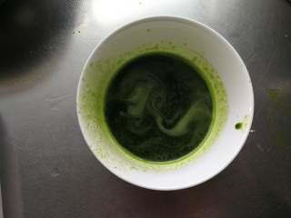 肉末蝴蝶面(含菠菜蝴蝶面做法),菠菜大约50g用料理机打碎过滤出汁