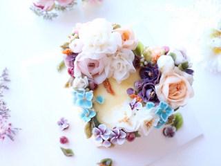 韩国裱花蛋糕