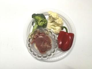 里脊肉烤菜花,准备材料