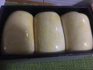 奶酪系列之:奶酪酸奶吐司,刷蛋液