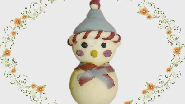 花式面点—圣诞雪人馒头