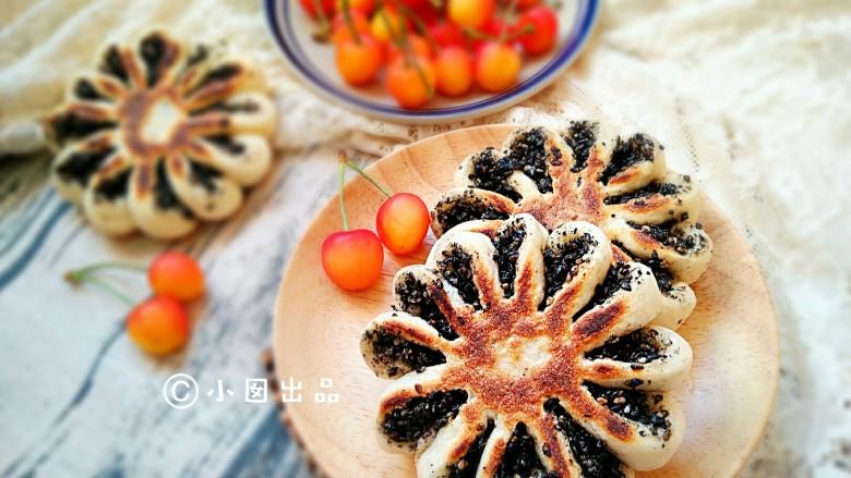 做饼+芝麻糖奶香菊花饼――这样的能量早餐敲好吃