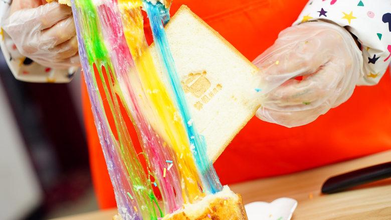 彩虹吐司制作图文详细教程, 自己动手做爆款高颜值网红小吃