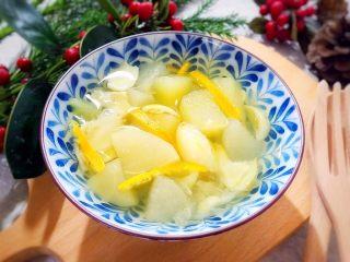 百变水果~鲜百合果皮苹果蜜梨甜汤,清甜可口,养生养颜,赞👍🏻