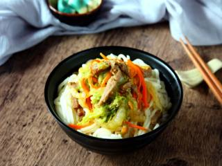 白菜肉丝面