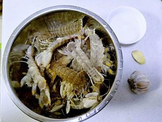 清蒸皮皮虾,准备好食材。