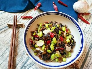 雪菜毛豆,成品。