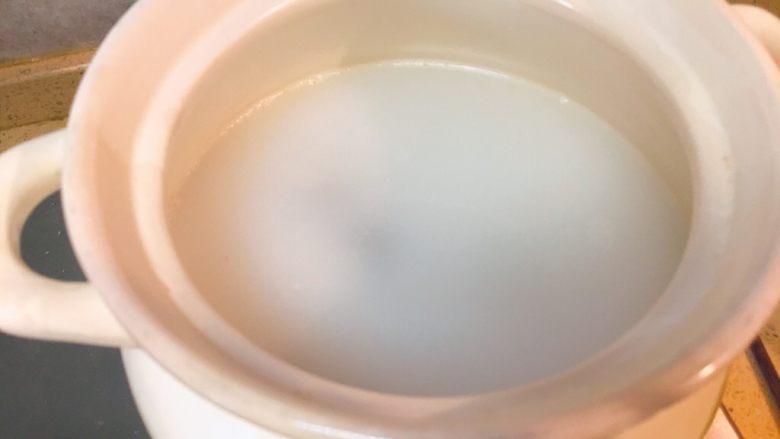 暖心汤系列★椰汁青口汤,搅拌均匀