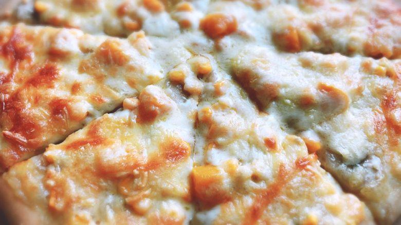 香甜可口的水果披萨🍕,出炉