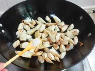 鲜鲜脆脆青葱炒篙瓜,放入少许糖