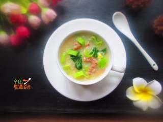 青菜肉沫粥