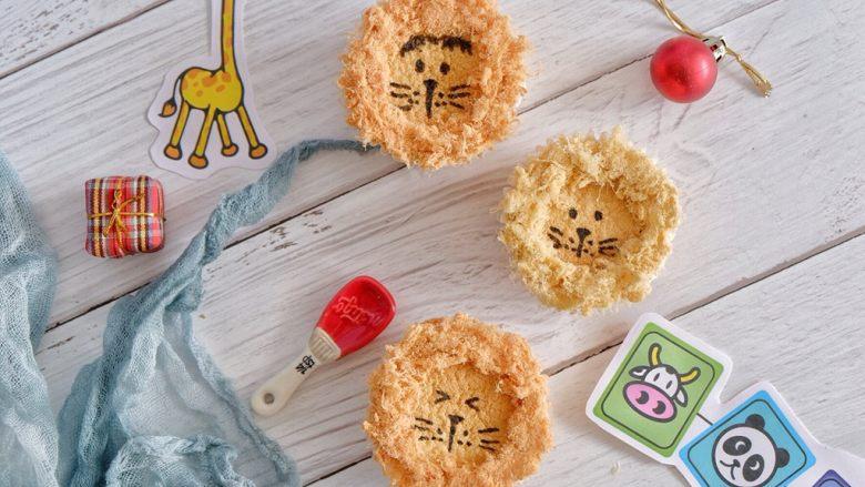 卡通狮子麦芬蛋糕