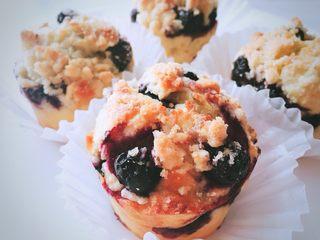 爆浆酥粒蓝莓马芬