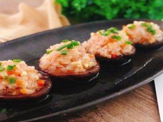3分钟学会鲜虾酿香菇的做法,营养价值极高,家人更喜欢!