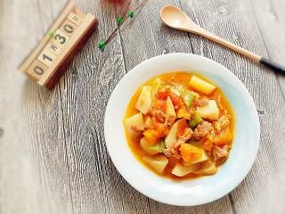 #宝宝辅食#番茄鸡肉炖南瓜土豆