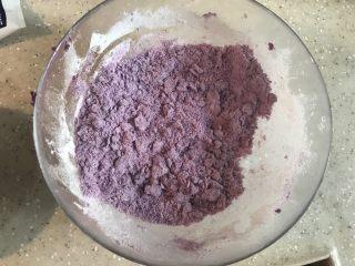 紫薯糖心糯米滋,搅拌均匀