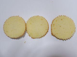 剩余麦芬大变身—可可脆片奶油蛋糕杯,横面切分为3片