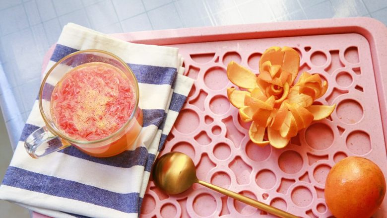 「柚橙了鲜气沸腾的小妖精」 鲜榨橙汁加西柚果粒气泡饮料