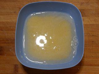 宝宝辅食—大黄米猪肉丸,放水中浸泡1个小时以上。