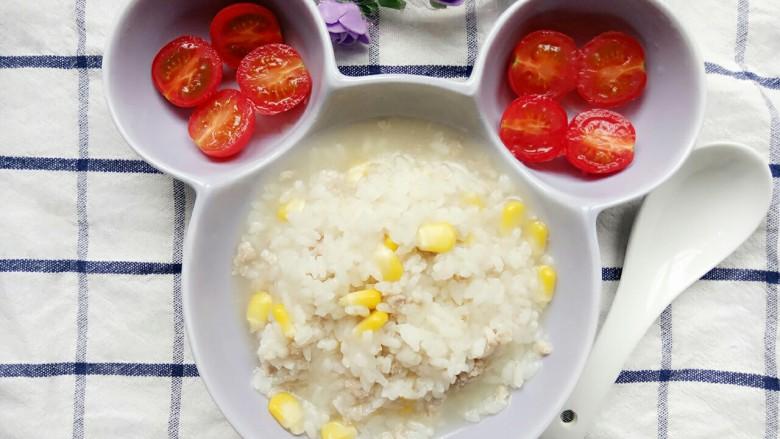 玉米肉末粥