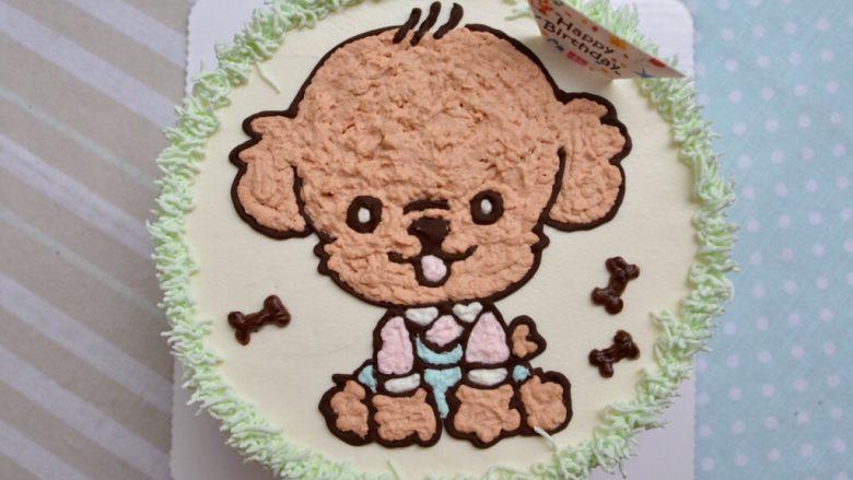 泰迪手绘蛋糕