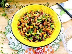 家常美味➕粒粒香蒜苔炒肉末