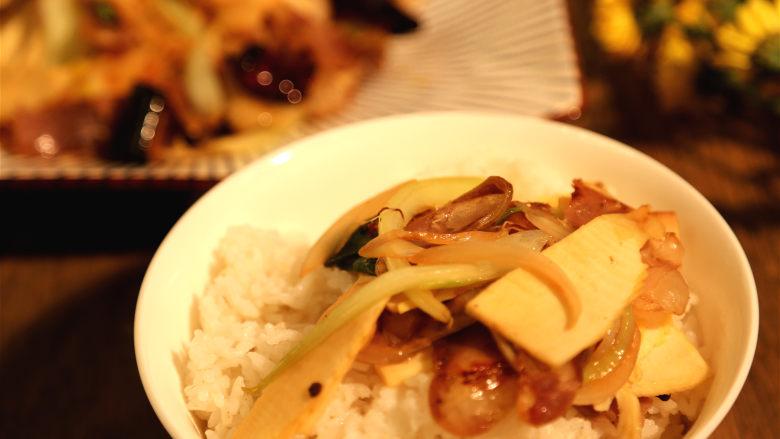冬笋炒腊肉,配饭非常可口。