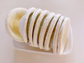 快手芒果酥~蛋挞皮版,蛋挞皮提前拿出来化冻