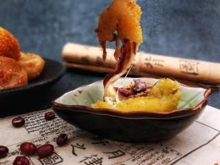 甜味土豆芝士球,漂亮的拉丝,好吃的停不下来哦😊