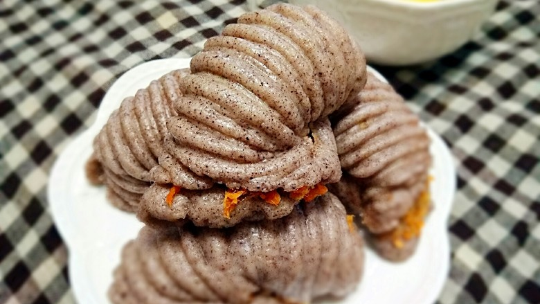 黑米海螺肉松卷