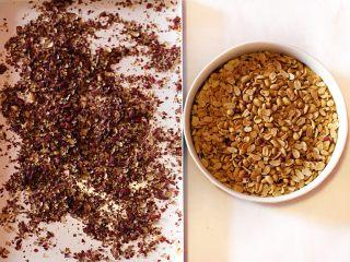 抹茶坚果牛扎,烘烤后的花生微凉后去皮