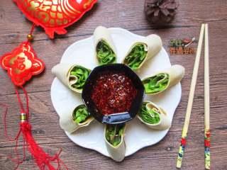 豆皮生菜卷