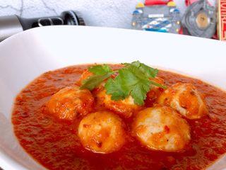 茄汁蓮藕雞肉丸子(親子版)-輔食,酸辣開胃的蛋白質能量丸,超適合馬拉松健身黨爸爸