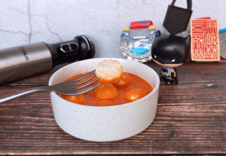 茄汁蓮藕雞肉丸子(親子版)-輔食