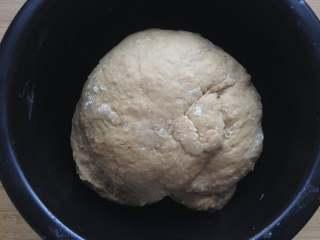 红糖馒头,和成面团,盖上保鲜膜醒15分钟